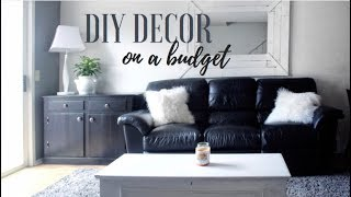 APARTMENT LIVING ROOM MAKEOVER // UNDER $50 LIVING ROOM MAKEOVER // DIY DECOR