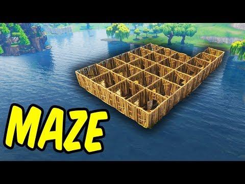 Building A Maze - Fortnite Battle Royale