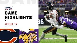 Bears vs. Vikings Week 17 Highlights | NFL 2019