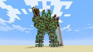 Controllable Battle Robot in Minecraft - Mega Gargantua [No Mods/ No Command Blocks]