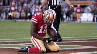 San Francisco 49ers' Marquise Goodwin scores emotional touchdown
