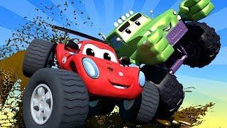 Monter Town - La ville des Monster Trucks   Official Live Stream - Dessins animés pour enfants 🚗