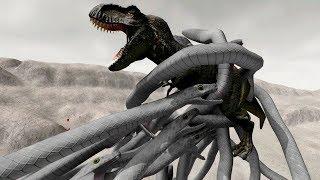 NEW SNAKES vs T-REX! - Beast Battle Simulator Gameplay | Pungence