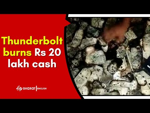 Thunderbolt burns Rs 20 lakh cash in WG district, money kept in house after selling land to pay son's fee