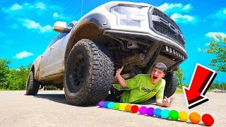 CRUSHING 50 SATISFYING THINGS WITH A GIANT TRUCK!
