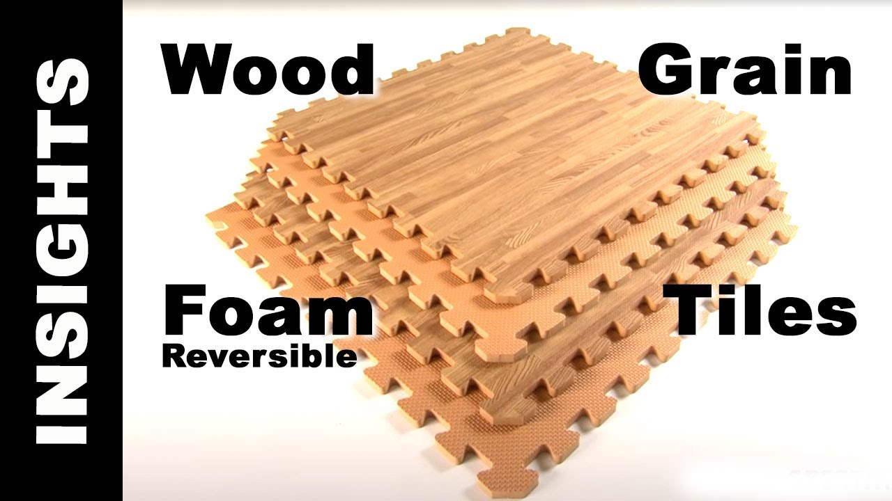 Foam Tiles Wood Grain Reversible Interlocking Foam