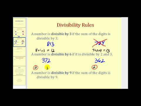 Divisibility rules to find factors ck 12 foundation freerunsca Image collections