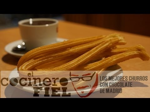 LOS MEJORES CHURROS CON CHOCOLATE DE MADRID - Smashpipe Food Video
