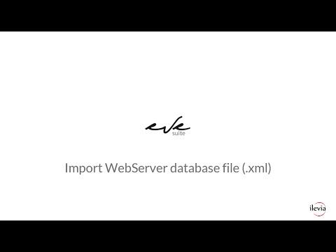 EVE: Import Vimar WebServer database file