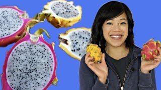 DRAGONFRUITS - pink & yellow | Fruity Fruits Taste Test