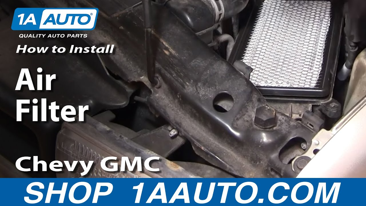 How To Install Replace Air Filter Chevy GMC S10 Blazer ...