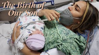 The Birth Of Our Son *Raw & Emotional* Labor & Delivery Pt 2 | JuJu & Des