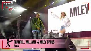 Happy Live Concert Pharrell Williams & Miley Cyrus performed at One Love Manchester (Drum Cover)