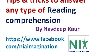 Reading comprehension Tips & tricks to answer any type of Reading comprehension