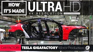 [4K] CAR FACTORY: HOW IT'S MADE TESLA GigaFactory TIMELAPS + Motor PRODUCTION Plant