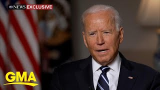 Biden says he did not see a way to withdraw from Afghanistan without 'chaos ensuing' l GMA