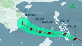 VTC14 | Bão số 2 Sanba ảnh hưởng xấu đến thời tiết trên biển