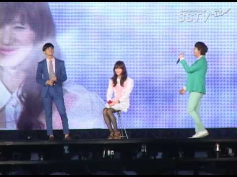 [SSTV] SM 콘서트 샤이니 태민 여장, 최강창민-규현과 뽀뽀를?