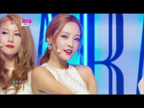 【TVPP】KARA - CUPID, 카라 - 큐피드 @ Comeback stage, Show! Music Core Live