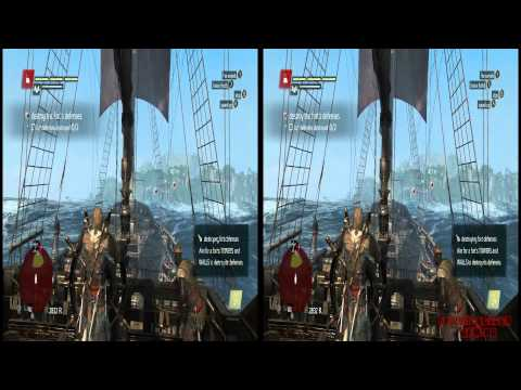 YT3D - Assassins Creed IV 3D: Black Flag Very High Settings Walkthrough Live Stream Part 7