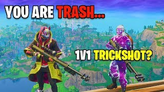 I trickshot battled THIS FAZE TRICKSHOTTTER! (Fortnite Insane 1v1)