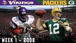 Aaron Rodgers' FIRST Start! (Vikings vs. Packers, 2008)