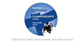 15.00 Second match: China–Australia, Vierumäki Ice Arena