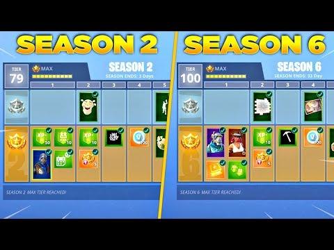 Evolution of Fortnite Battle Pass Items From Season 2 - Season 6! (Fortnite Nostalgia)
