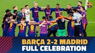 BARÇA 2-2 MADRID | Post-match celebrations at Camp Nou