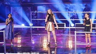 Elina, Grace and Jasmine Sing Burn | The Voice Kids Australia 2014