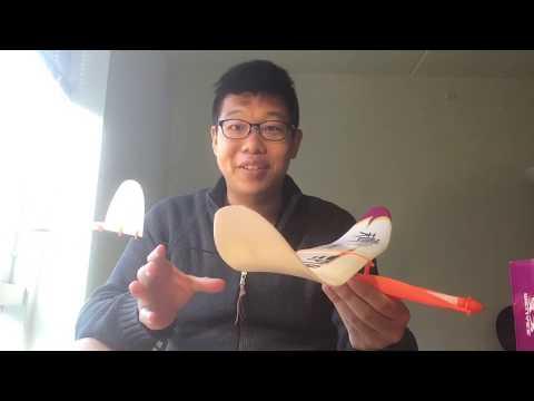 {阿信手擲機工作坊} 有趣的橡皮筋飛機:天巡者號 P1B
