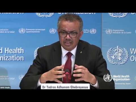 Live from WHO Headquarters - coronavirus - COVID-19 daily press briefing 25 March 2020