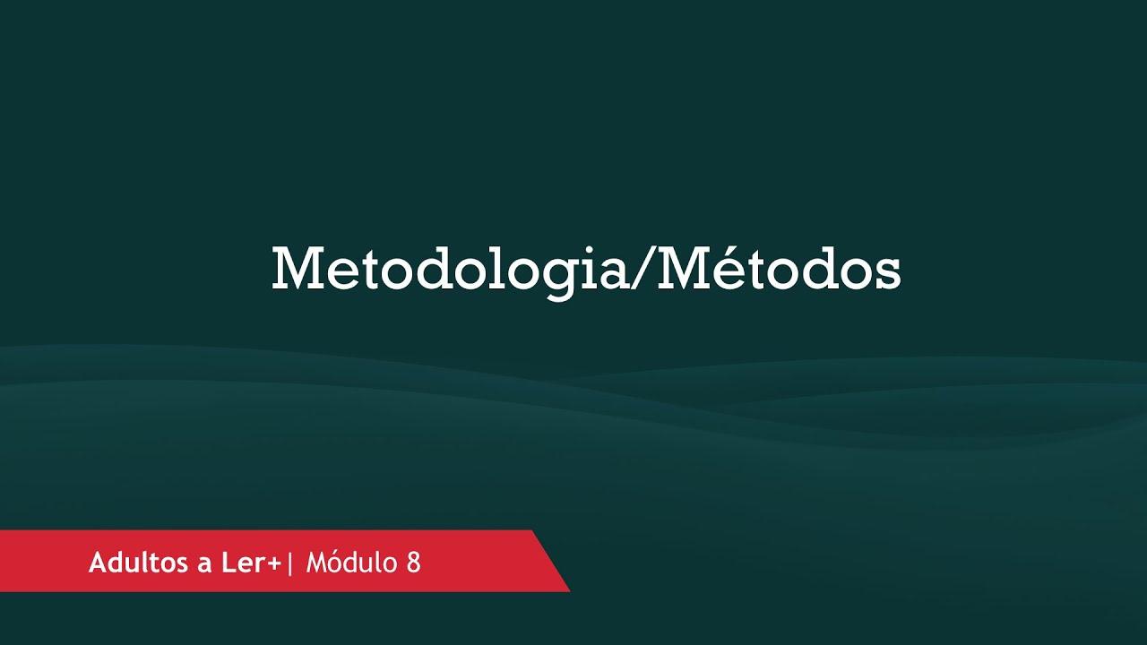 Metodologia/Métodos