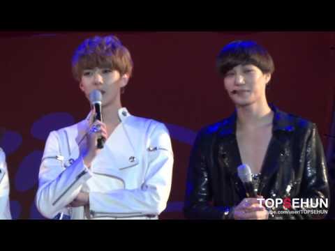 20121012 EXO-K Chaorwon TaeBong Festival - adorable Sehun