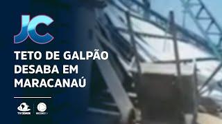 Teto de galpão desaba em Maracanaú