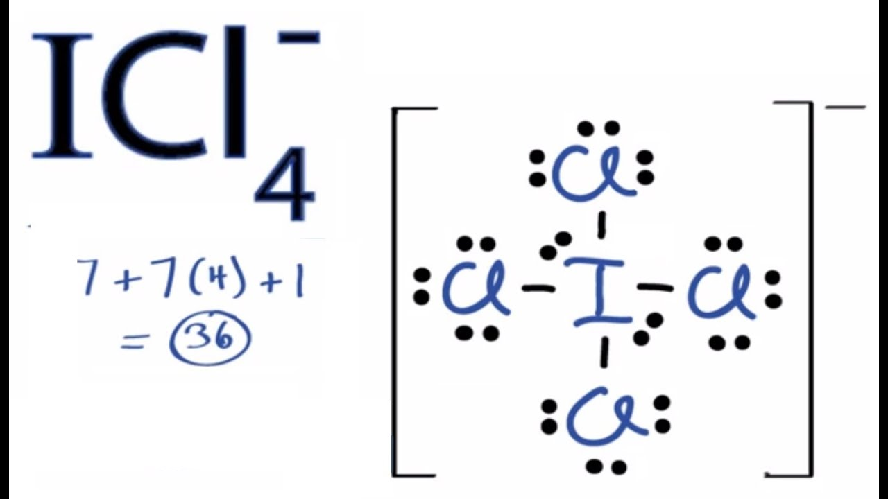 ICl4- Lewis Structure ...