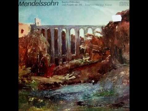 Mendelssohn: 6 Preludes & Fugues op. 35 (Siegfried Stöckigt - 1979 vinyl LP)