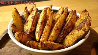 Ultimate Oven Baked Potato Wedges | One Pot Chef