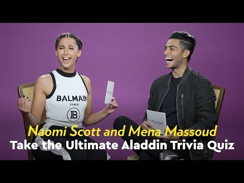 Naomi Scott and Mena Massoud Take the Ultimate Aladdin Trivia Quiz