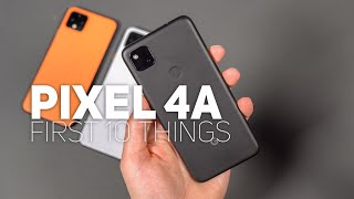 Pixel 4a: First 10 Things To Do!