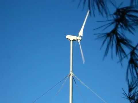 Small wind turbine: Anelion's SW3.5-GT model (grid-tied)