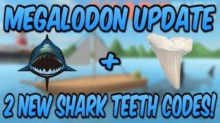 MEGALODON UPDATE + 2 NEW SHARK TEETH CODES! (Roblox Sharkbite)