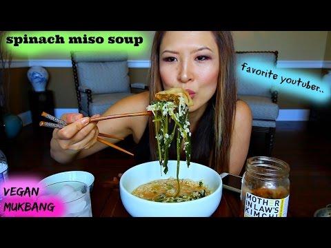 SPINACH MISO SOUP • Mukbang & Recipe