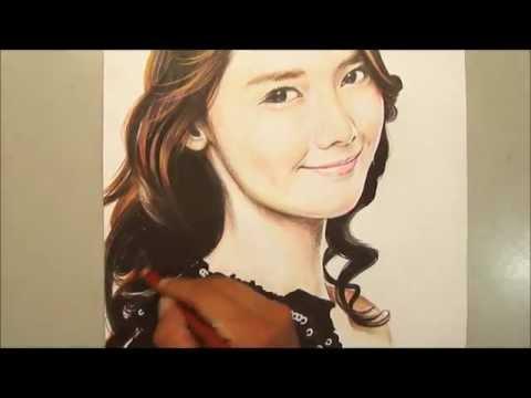 SNSD Yoona ( Girl's Generation) Drawing 2 - Daniel Phua