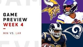Minnesota Vikings vs. Los Angeles Rams | Week 4 Game Preview | NFL