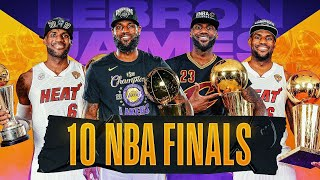 LeBron's Journey To 10 NBA FINALS 👑