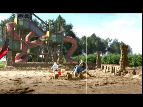 Sand castles in playground TP visual effects by Unexpected