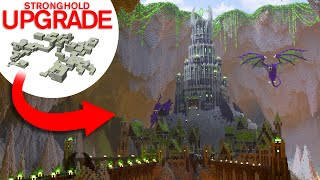 Upgrading Minecraft's Stronghold To This EPIC Evil Underground Fortress!