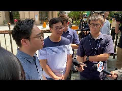 唐平榮(罷免王浩宇發起人)前往中選會 遞交提議罷免連署書 開啟罷免第一槍 2020/7/20