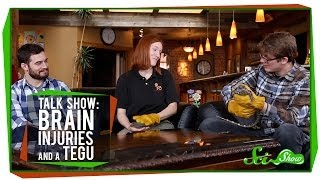 Talk Show: Brain Injuries & Pearl the Tegu
